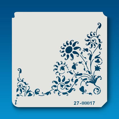 27-00017 Wild Flower Corner Stencil