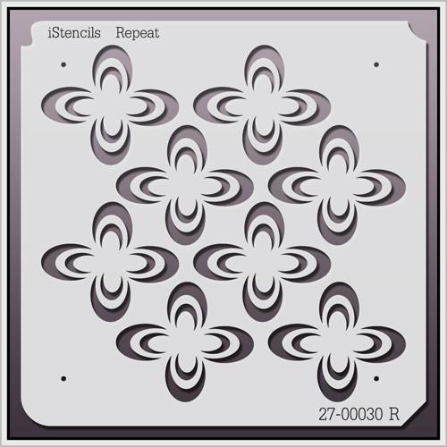 27-00030 R Clover Repeat 2 Stencil