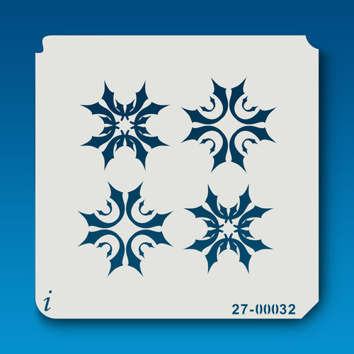 27-00032 Alternating Snowflake Stencil