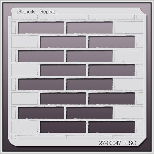 27-00047 R SC Brick Pattern Stencil