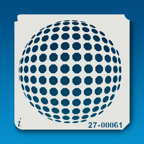 27-00061 Spotted Disco Ball Stencil