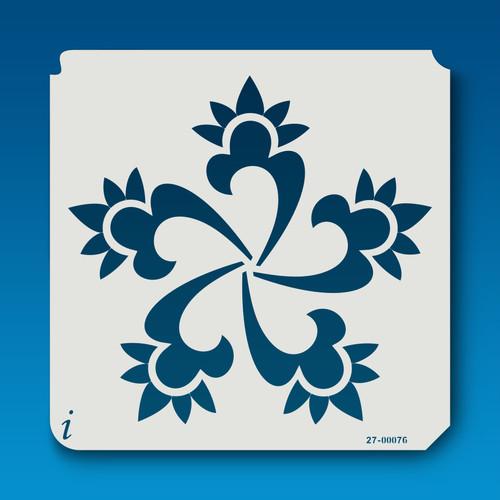 27-00076 Swirl Flower Stencil