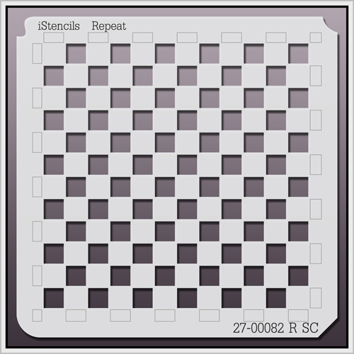27-00082 R SC Checkerboard Pattern Stencil