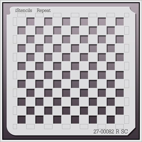 27-00082 R SC Checkerboard Pattern Stencil