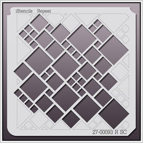 27-00093 R SC Geometric Tiled Stencil
