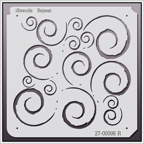 27-00098 R Repeating Flourishes Stencil
