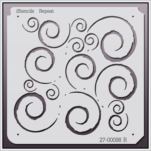 27-00098 R Repeating Flourishes Stencil