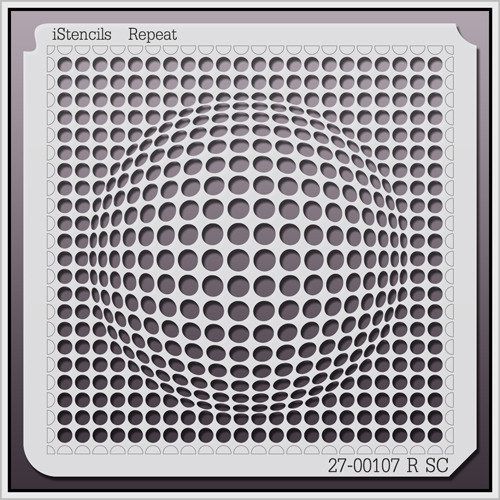 27-00107 R SC Spherical Optical Illusion Stencil