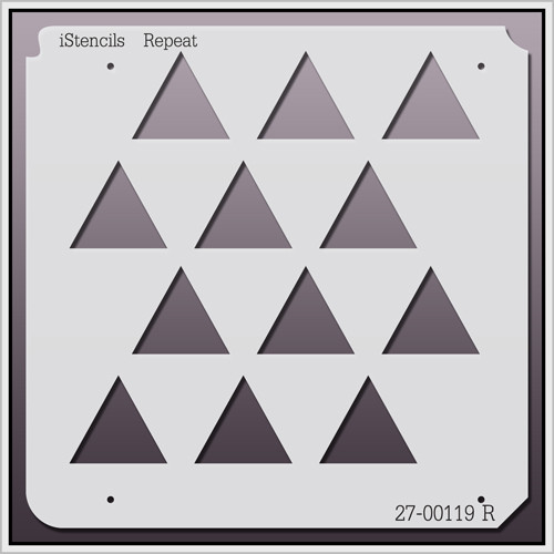 27-00119 R  Triangles Stencil