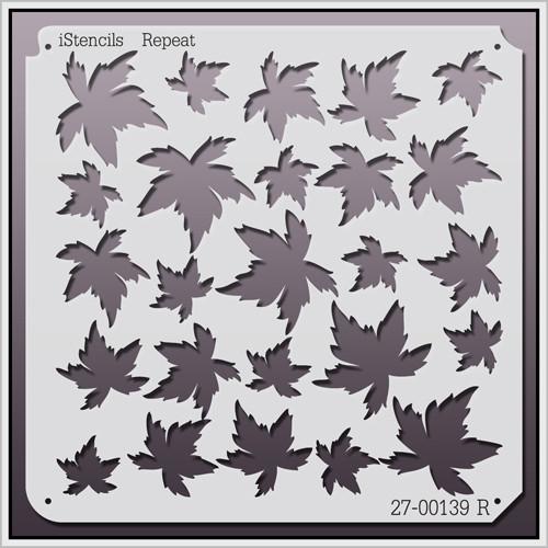 27-00139 R Leaves Stencil