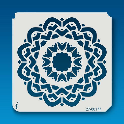 27-00177 Aztec Mandala Stencil