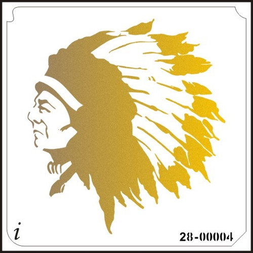 28-00004 Indian Chief Large Stencil
