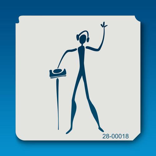 28-00018 DJ Stick Figure