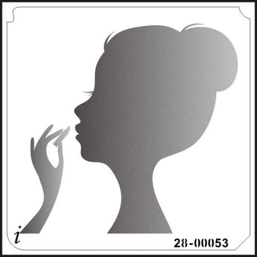 28-00053 Young Lady Face Silhouette