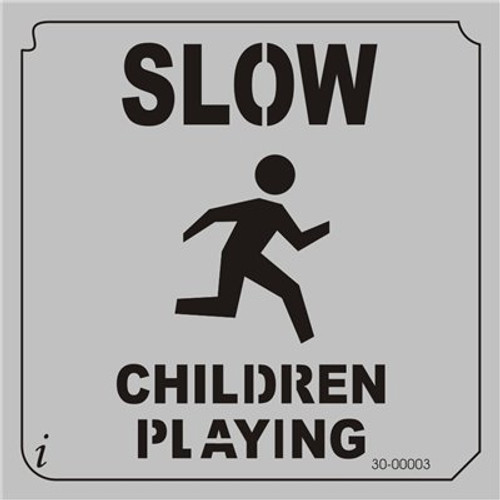 30-00003 Slow Children Playing Sign