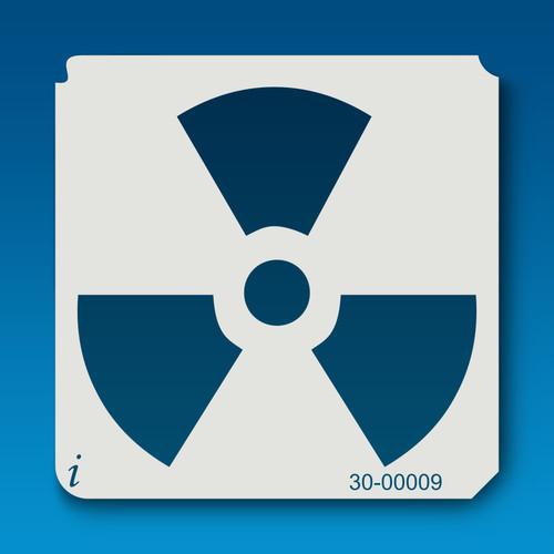 30-00009 Radiation Symbol Stencil