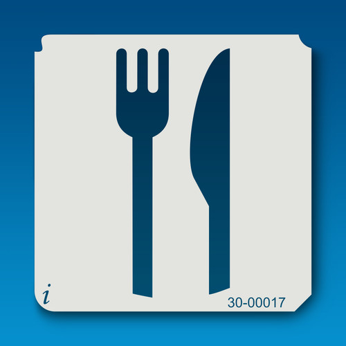 30-00017 fork and knife stencil