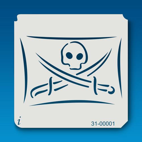 31-00001 Skull and Crossbones Flag