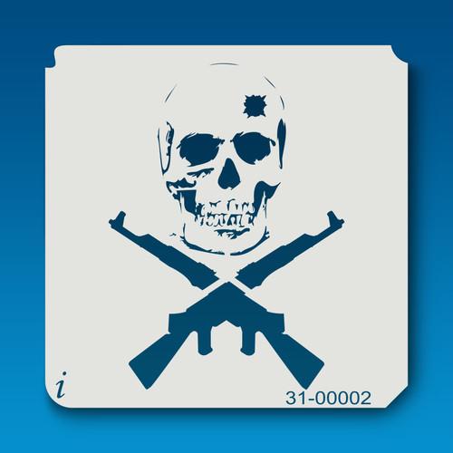 31-00002 Skull and Guns