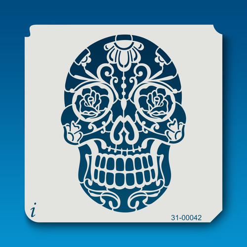 31-00042 sugar skull stencil