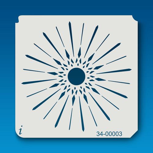 34-00003 Sunburst Stencil