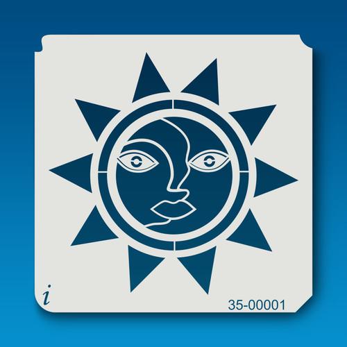 35-00001 Happy Sun Stencil