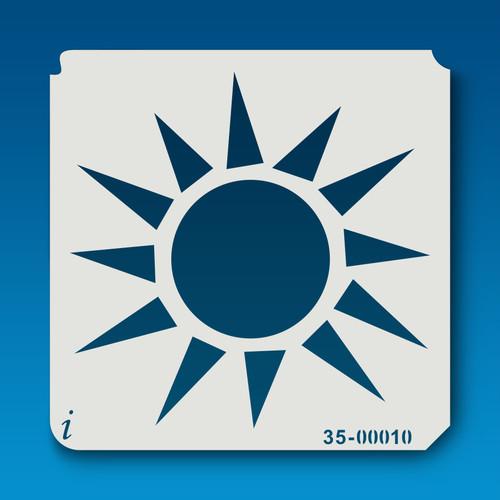 35-00010 bright sun stencil
