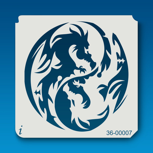 36-00007 Yin Yang Dragons Stencil