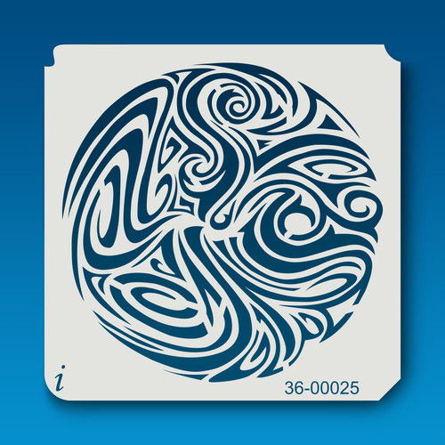 36-00025 psychedelic paint swirl stencil