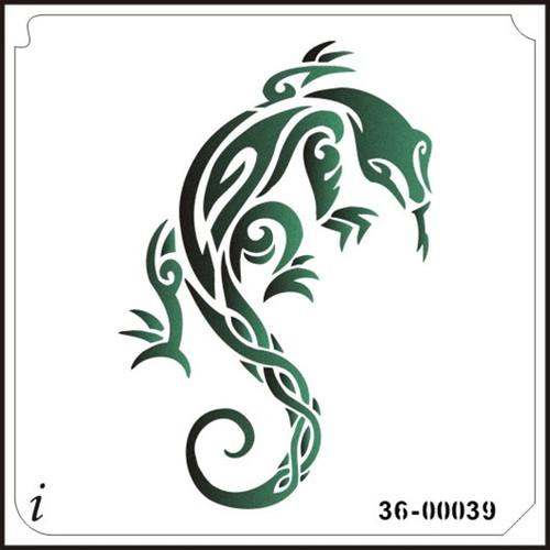 36-00039 Lizards Stencil
