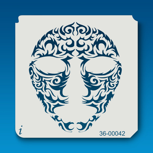 36-00042 Mask Tattoo Stencil