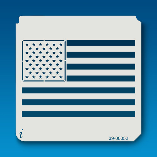39-00052 American Flag Stencil