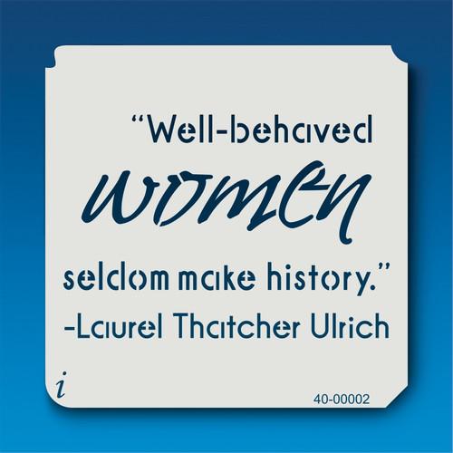 40-00002 Well-behaved women