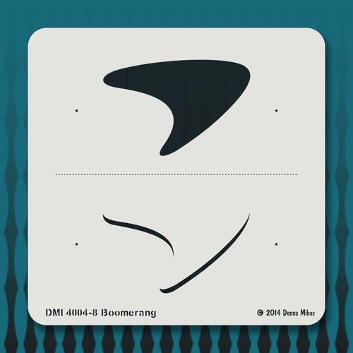 4004 Boomerang stencil