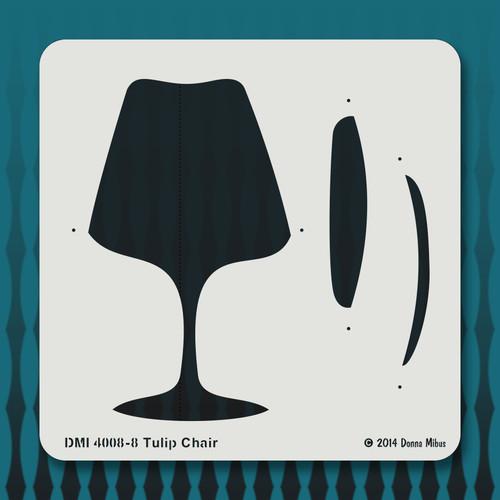 4008 Tulip Chair stencil