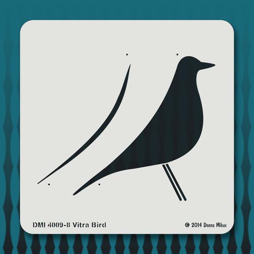 4009 Vitra Bird stencil