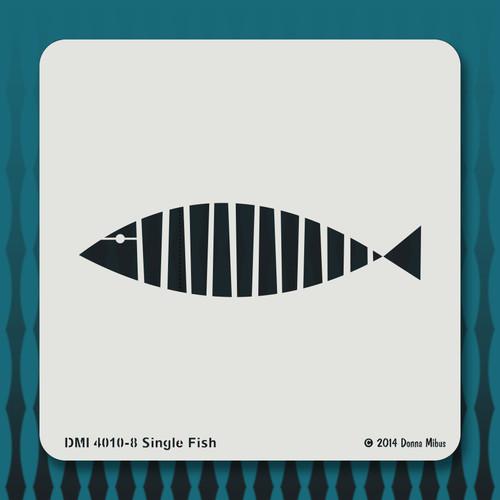 4010 Single Fish stencil