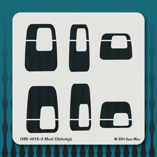 4015 Mod Oblongs stencil