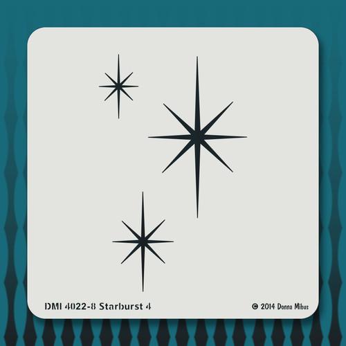 4022 Starburst 4 stencil