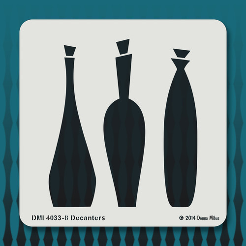 4033 Decanters stencil