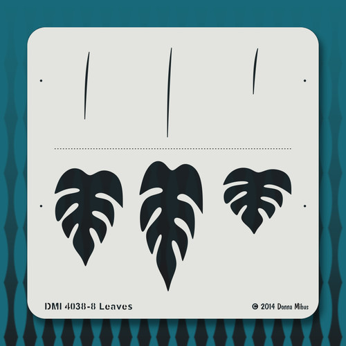 4038 Leaves stencil