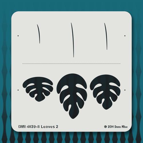 4039 Leaves 2 stencil