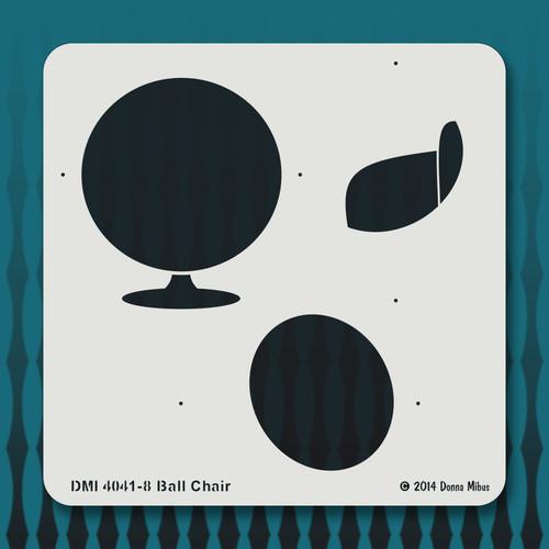 4041 Ball Chair stencil