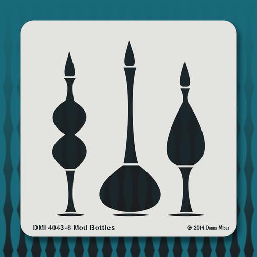 4043 Mod Bottles stencil