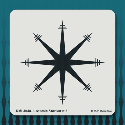 4048 Atomic Starburst 3 stencil