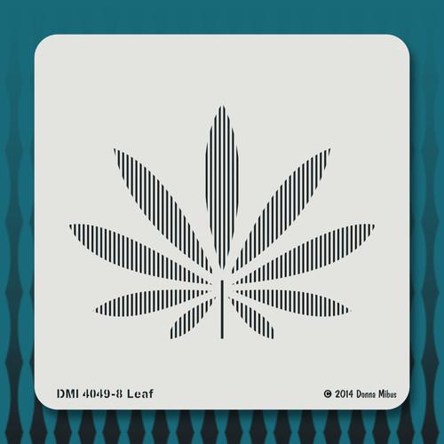 4049 Leaf  stencil