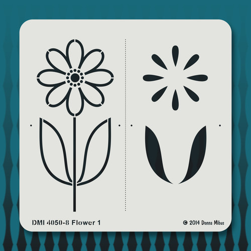 4050 Flower 1 stencil