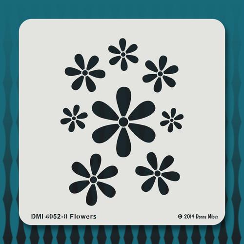 4052 Flowers stencil