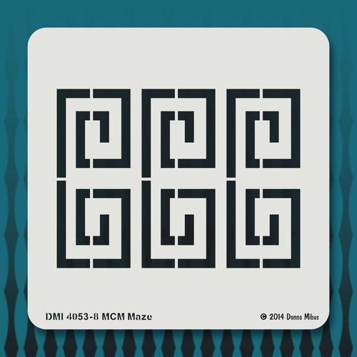 4053  MCM Maze stencil