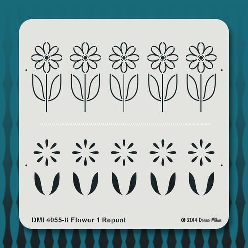 4055 Flower 1 Repeat stencil